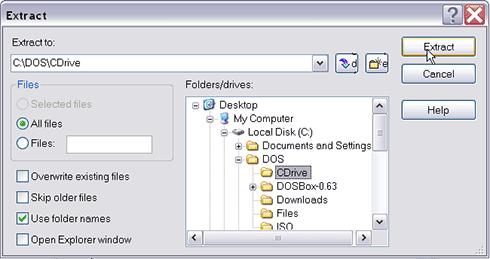 Select CDrive folder